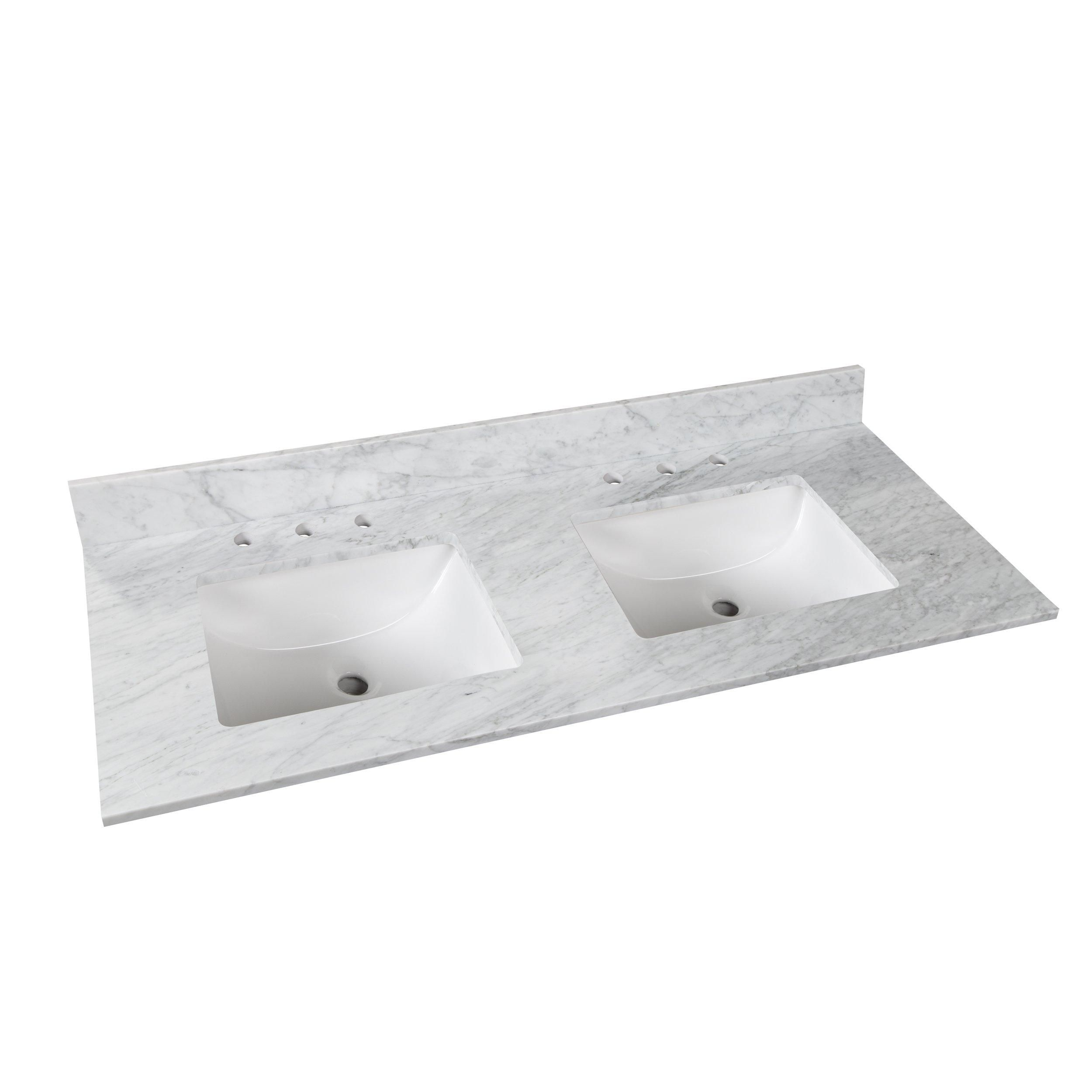 Bianco Carrara Marble 61 In Vanity Top Products In 2019