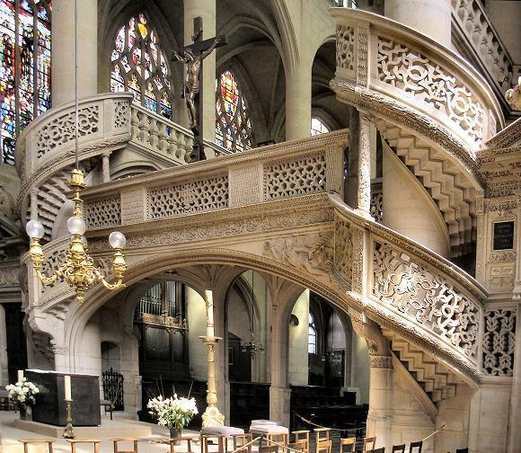 Paris : jubé de l'église Saint-Etienne-du-Mont (5e)
