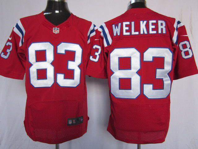1007f0155 ... NFL Mens Nike New England Patriots 83 Wes Welker Elite Red Jersey ...