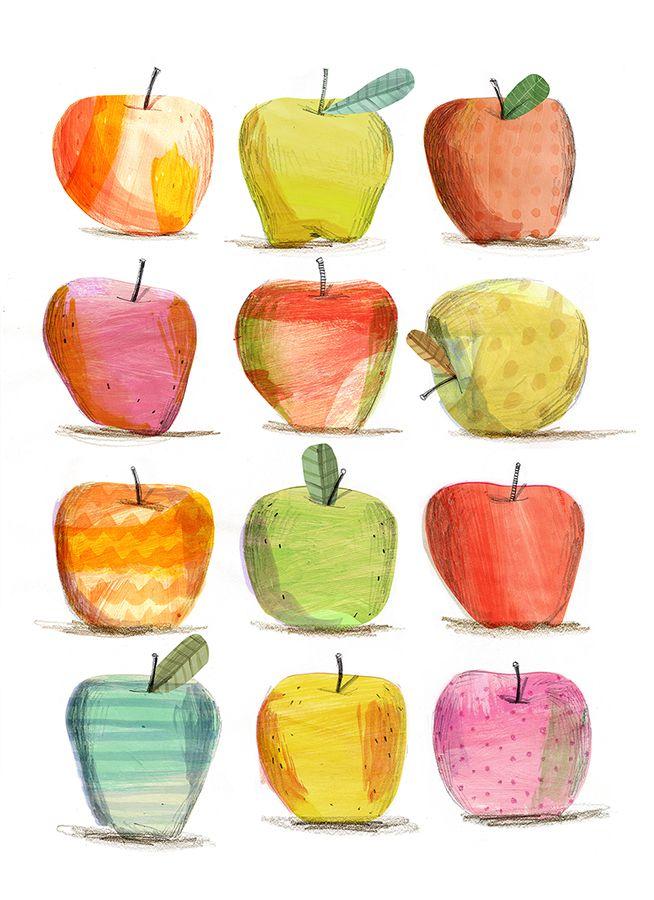 Risultati immagini per illustration apples