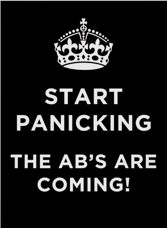 Start panicking abs rugby poster one for the rugby supporter printed on 45