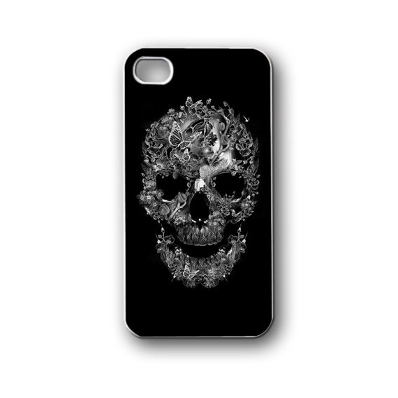 floral skull cute - iPhone 4/4S/5/5S/5C, Case - Samsung Galaxy S3/S4/NOTE/Mini, Cover, Accessories,Gift