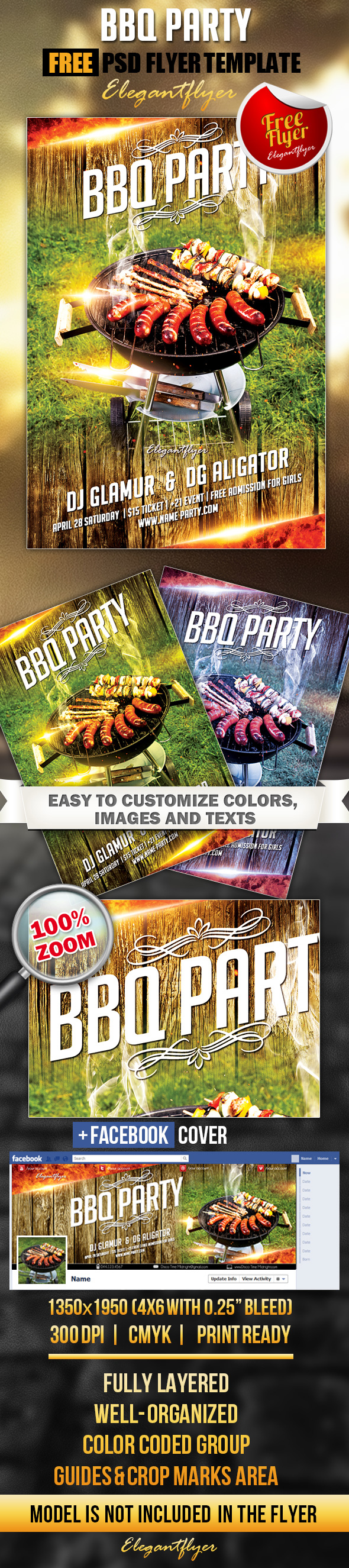 free bbq flyers design - Free Bbq Flyer Template