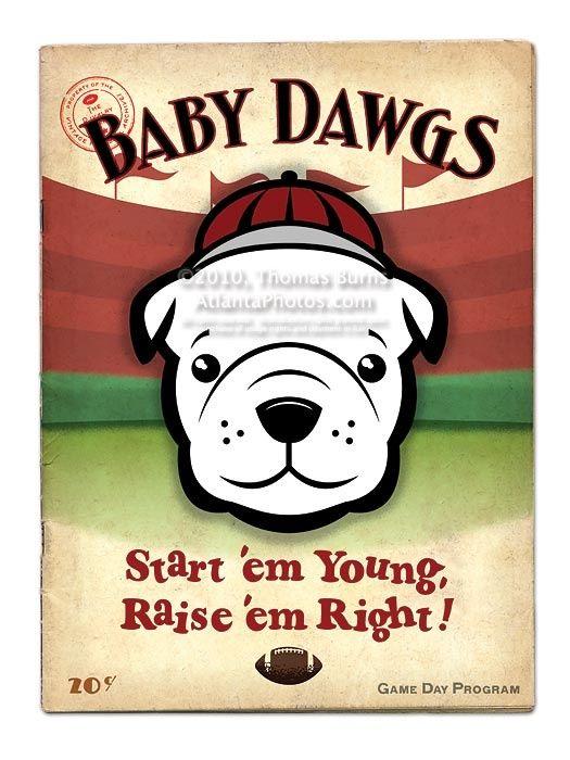 Ga Bulldogs Poster By Thomas Burns Dawgs Uga Baby Ga Bulldogs