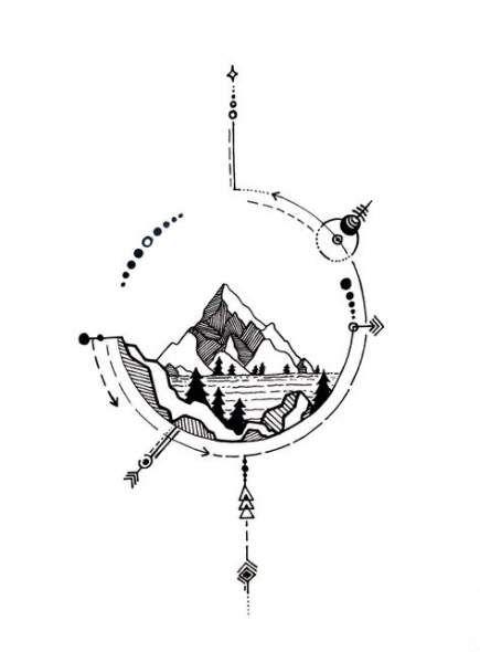 Photo of 46  ideas tattoo mountain travel