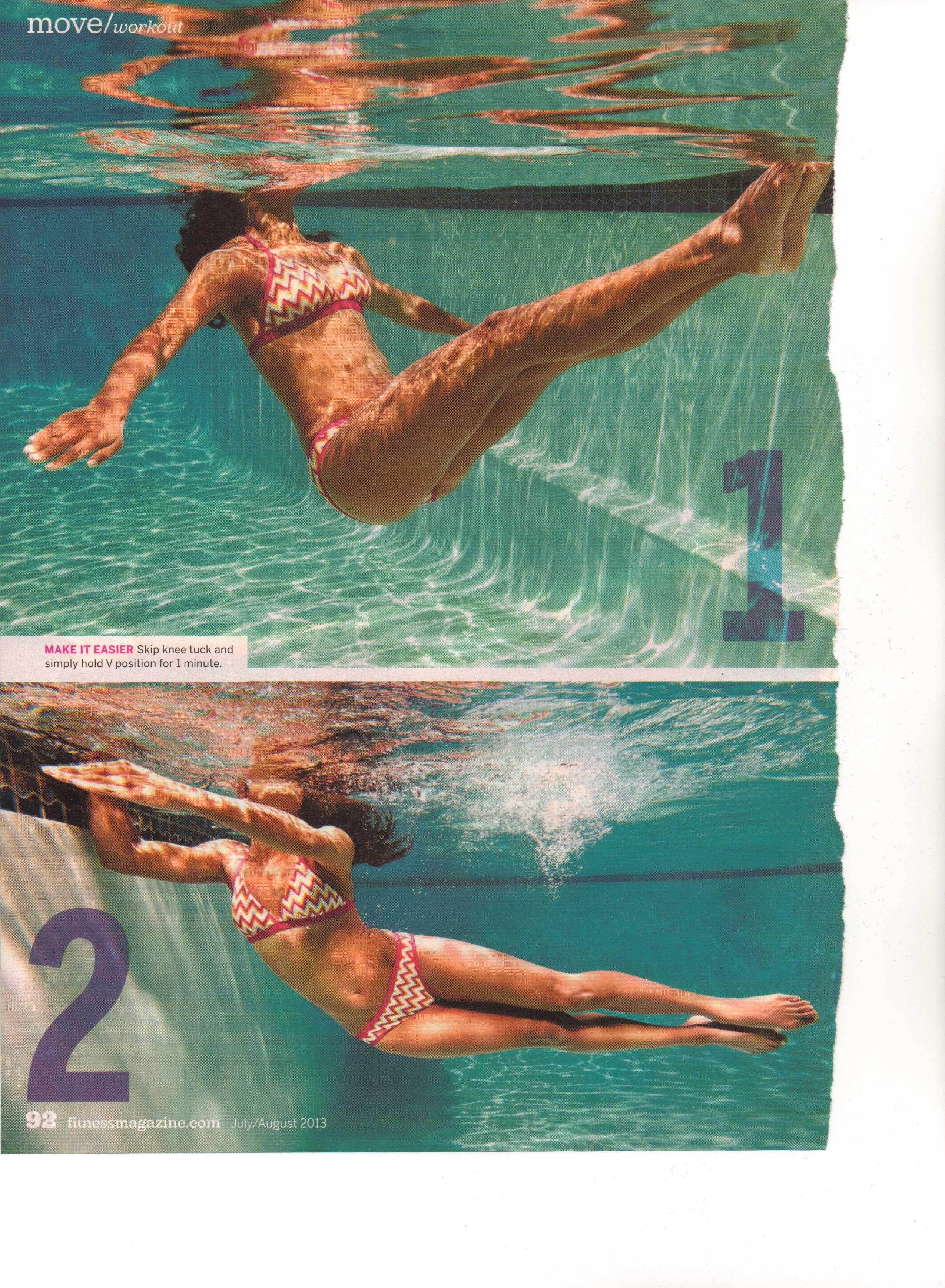 Pool Exercise 1 Magazine Articles Pinterest Pool Exercises Exercises And Pool Workout