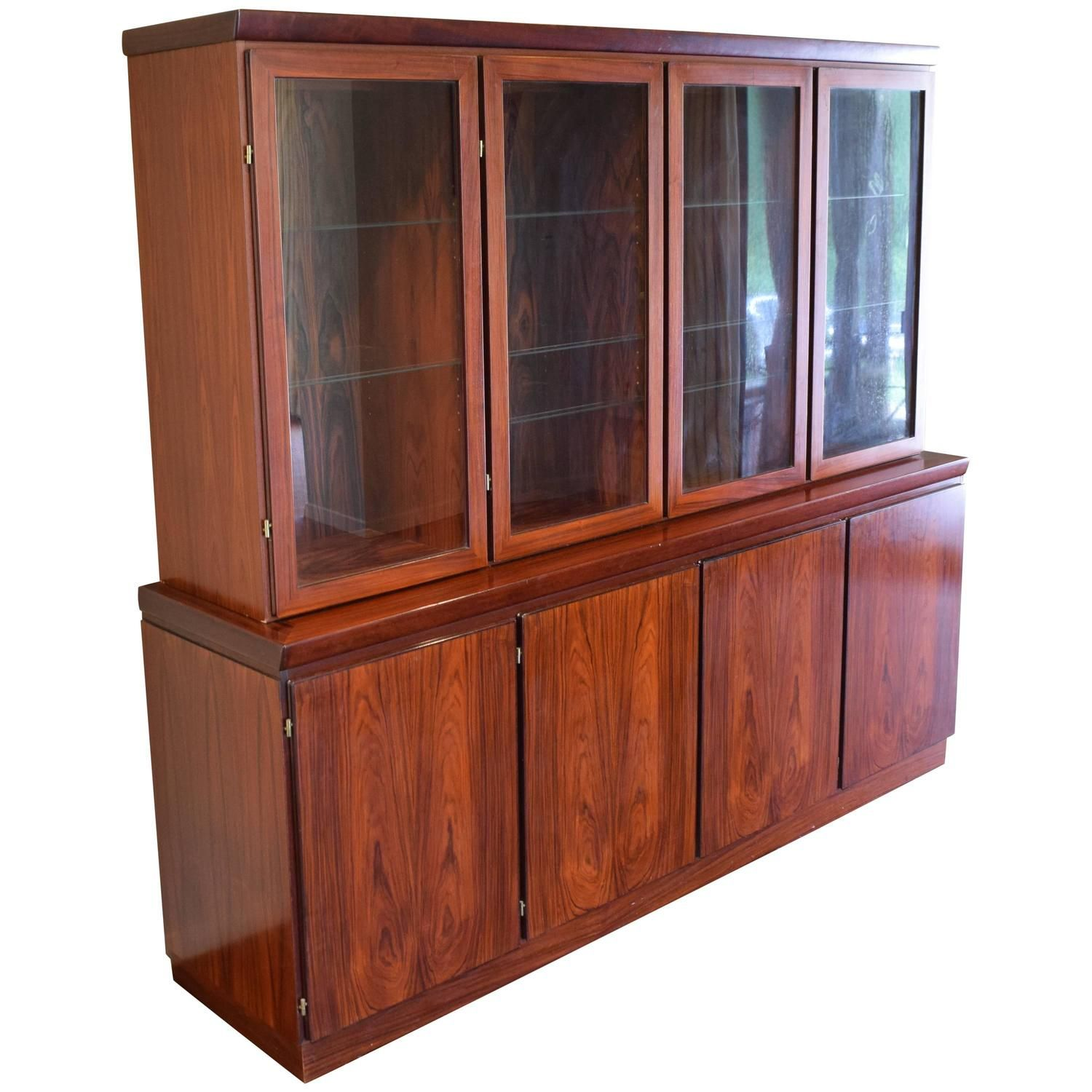 Display Kitchen Cabinets For Sale: Large Skovby Rosewood Display Cabinet