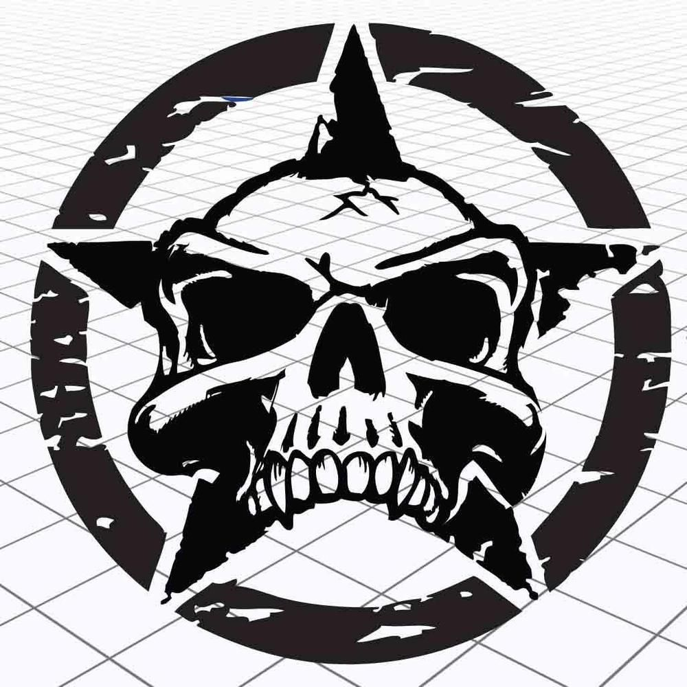 Jeep distressed star decal jeep distressed star sticker jeep skull army star oracal