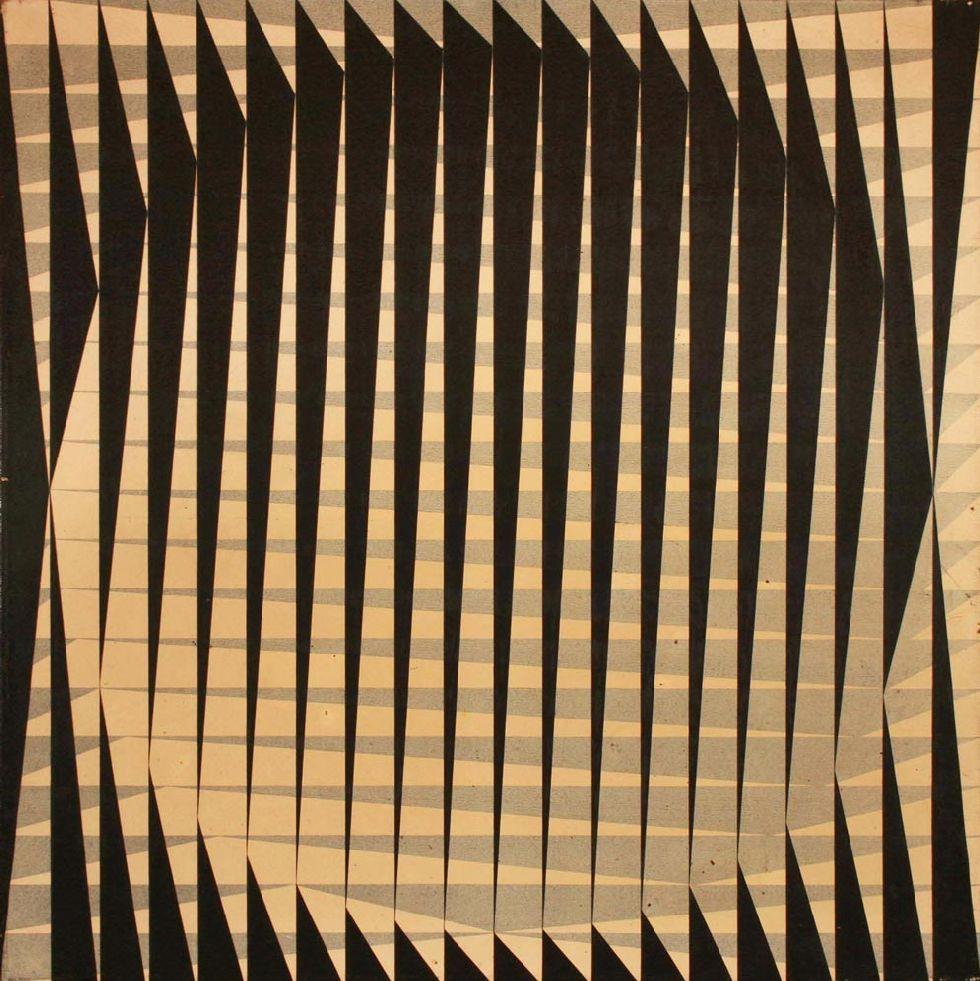 """POLESELLO, Rogelio """"PINTURA"""" Acrílico sobre tela. 100 x 100 cms."""