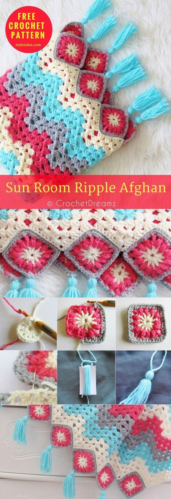 Sun Room Afghan Free Crochet Pattern | Kuschelecke, Häkeln und ...