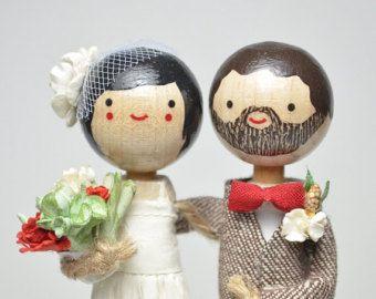Gâteau de mariage personnalisé Topper avec robe par togetherforever