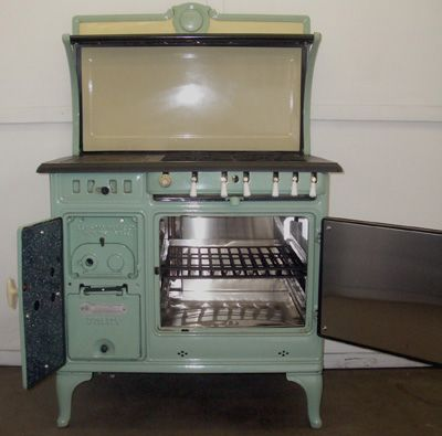 Utility Glenwood Converted Gas And Electric Antique Cook Stove Gwkr1159 Conv Grn