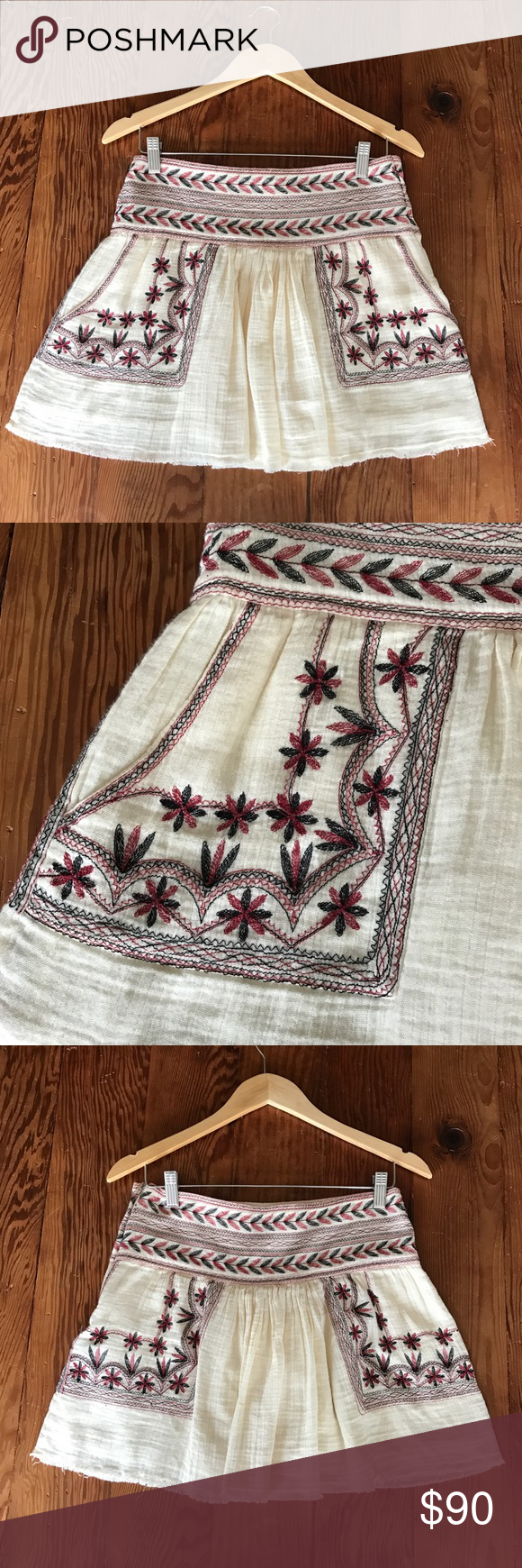 Isabel Marant Embroidered Mini Skirt, size 36 Isabel Marant Embroidered Mini Skirt, size 36 which is a US size small. Excellent condition, no flaws to note. Isabel Marant Skirts Mini