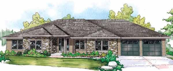 House Plan 035 00565 Ranch Plan 3 000 Square Feet 4 Bedrooms 3 Bathrooms Ranch Style House Plans Ranch Style Homes Contemporary House Plans