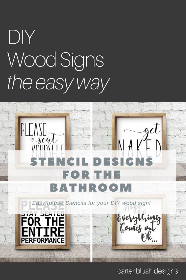 Bathroom Signs Bathroom Decor Farmhouse Style Wood Signs Diy Painted Lettering Diy Wood Signs Wood Signs Diy Signs