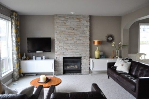 Living Room With Tv As Focal Point tv off-center from main focal point (fireplace) | fireplaces