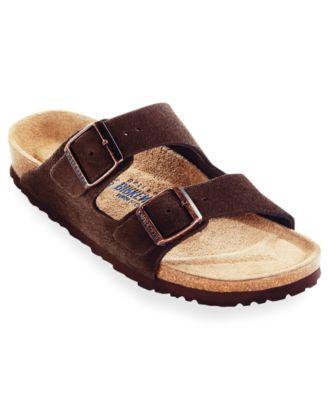 Birkenstock Men's Arizona Soft Footbed Two Band Suede Sandals Men's Shoes GwpgxRf