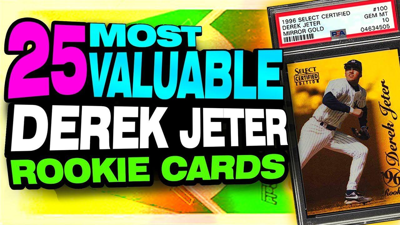 TOP 25 Derek Jeter Rookie Card List Investing in Jeter