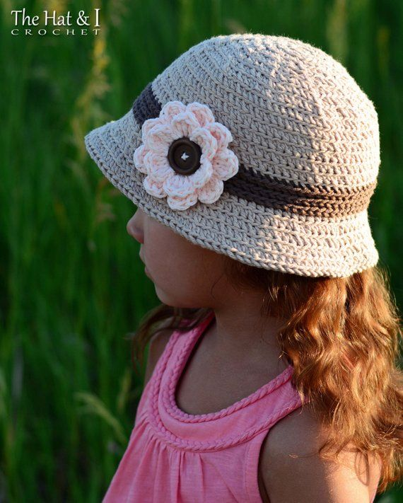 Crochet Hat PATTERN - Always Elegant Sun Hat - crochet pattern for summer  hat 53d42619f