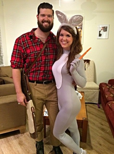 bunny costume, buggs bunny costume, elmer fudd, wildfox,  easy halloween costumes, diy halloween costumes, halloween costume ideas