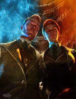 The Lutece Twins - Bioshock Infinite by DanielMurrayART