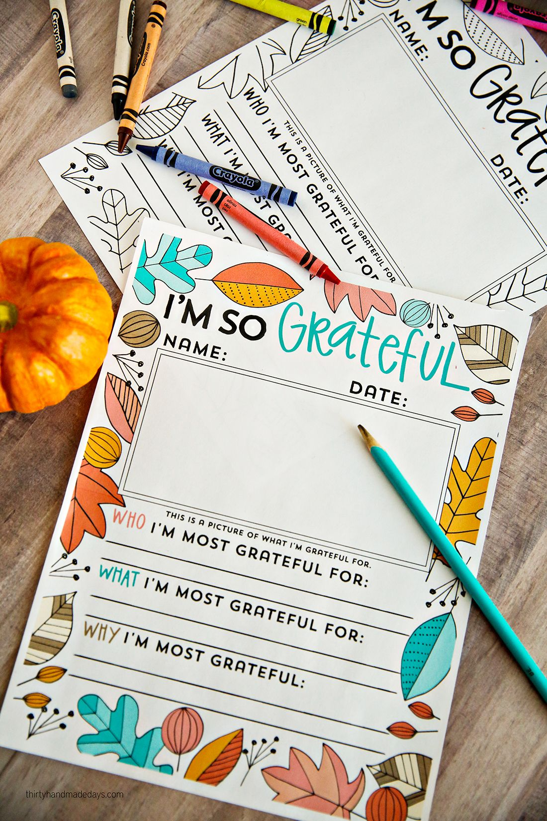 I 39 m so grateful Thanksgiving Coloring Pages 30days