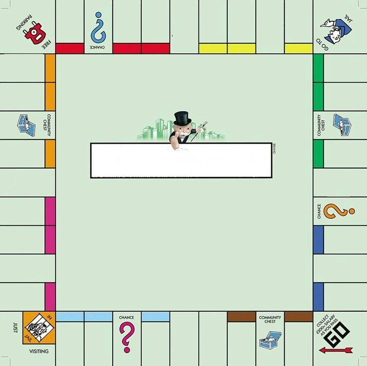 Empty Monopoly Board Template