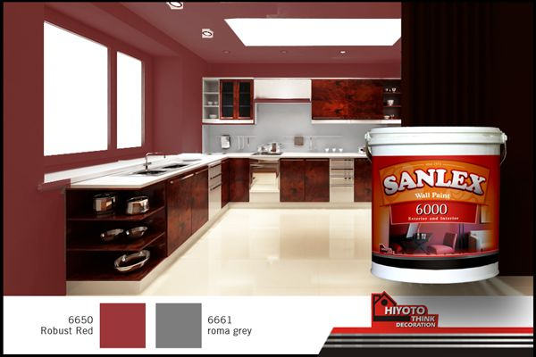 Enclose Your Home Kitchen With Robust Red Interior Design