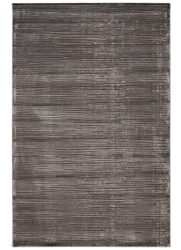 Rayon Chenille Material Carpet In Gray