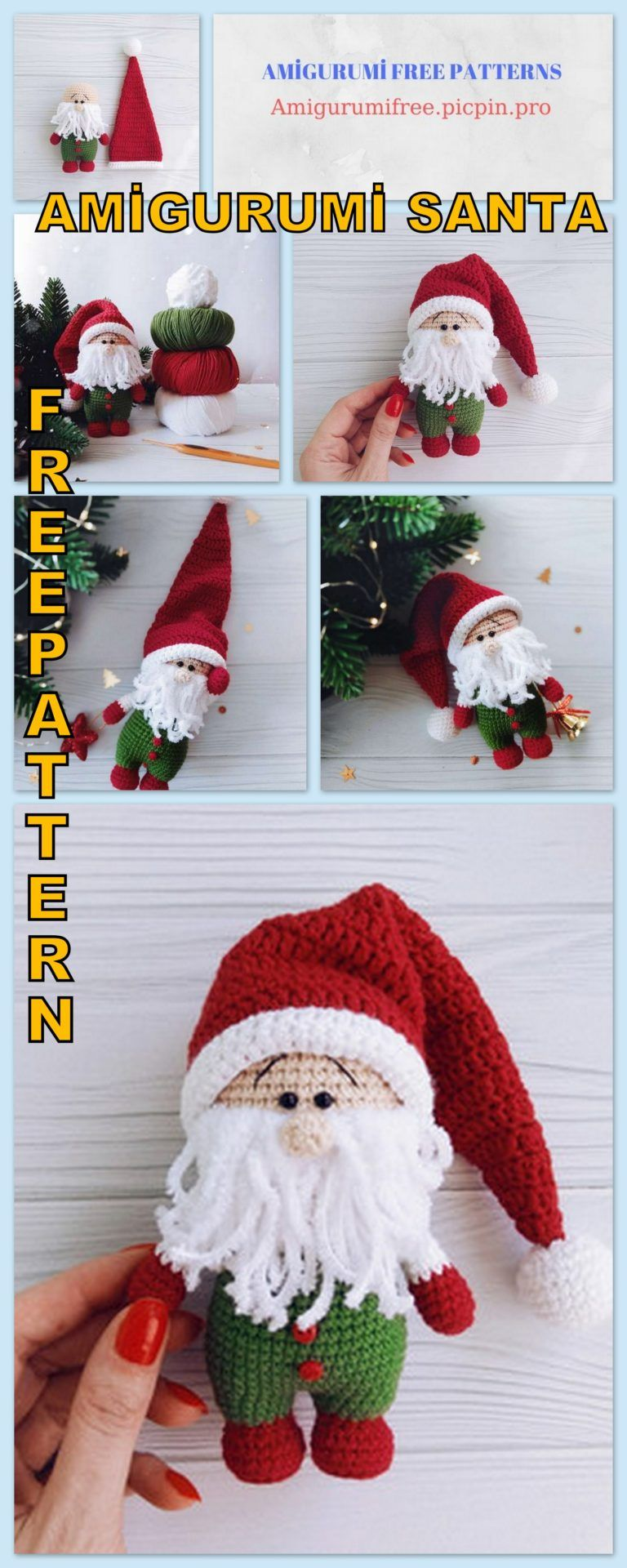 Crochet Santa Claus Plushie: Free Crochet Christmas Pattern | | 1920x768