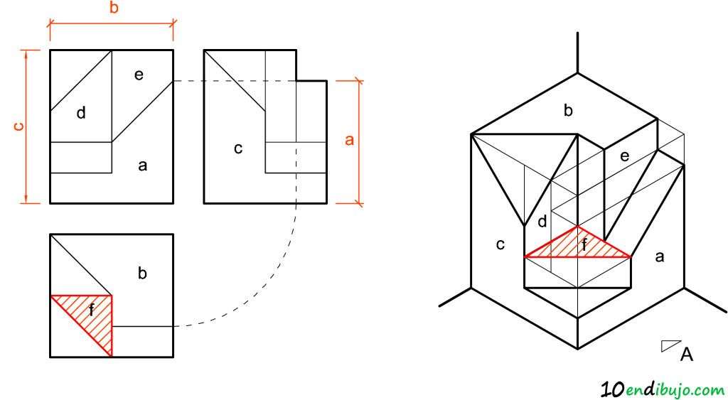Superficies Isometrica Solucion Vistas Dibujo Tecnico Tecnicas De Dibujo Consejos De Diseno Grafico
