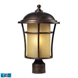 Check out the Elk Lighting 45038-1-LED Bolla Vista 1 Light LED Outdoor Post Mount in Regal Bronze