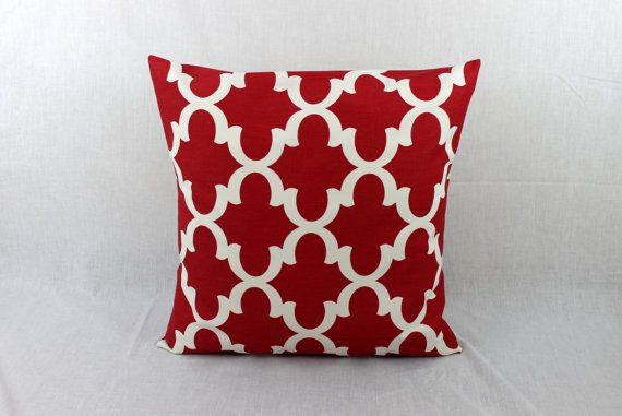 26X26 Pillow Insert Handmade Red Decorative Couch Pillow Available In 12X16 12X1814X14