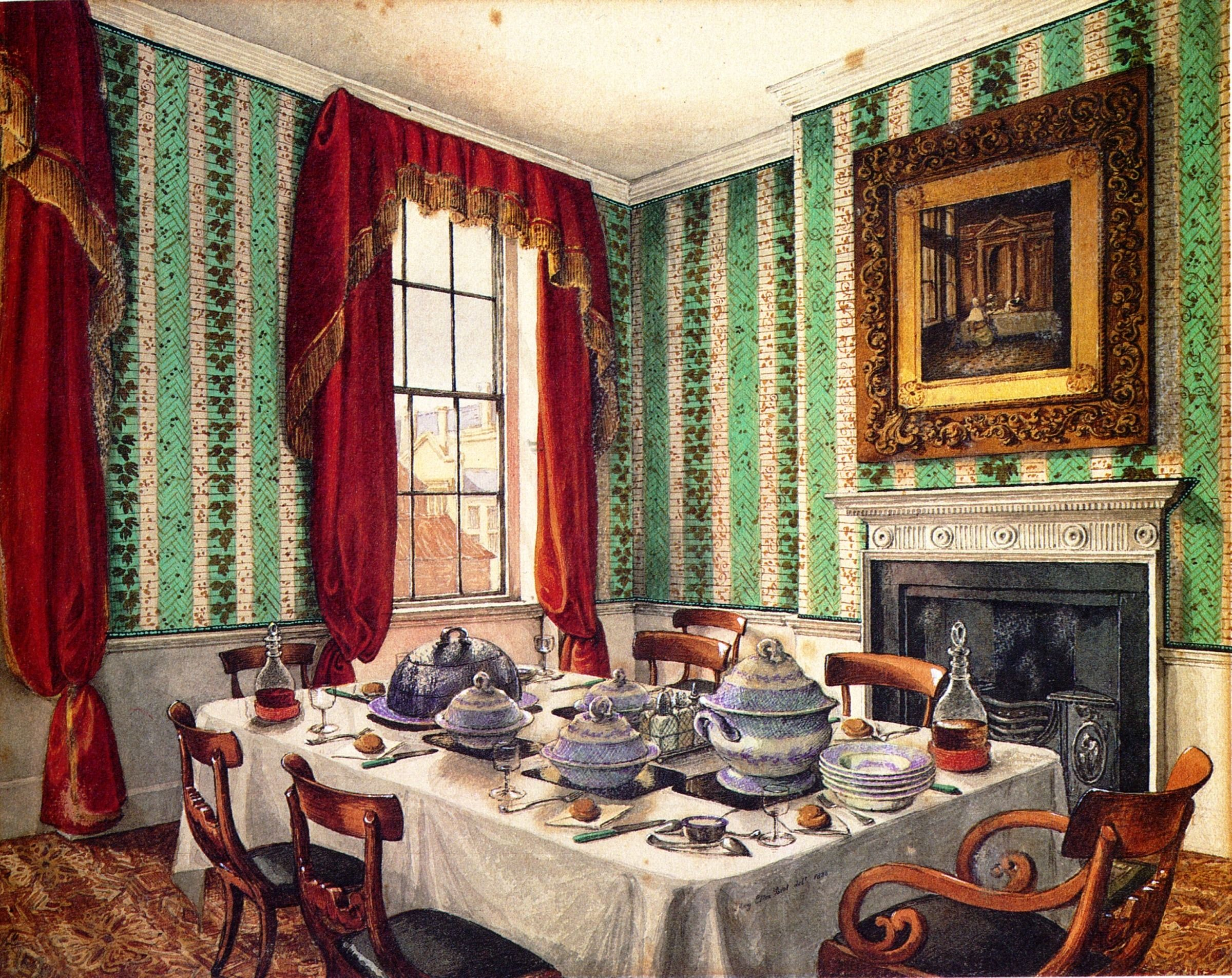 Mary ellen best 1809 1891 our dining table at york 1835 2400x1905