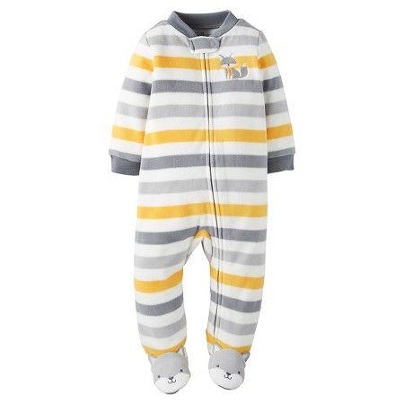 81f8a5ab98b3 Baby Boys  Fleece Sleep N  Play Multi Stripe Fox - Just One You™Made ...