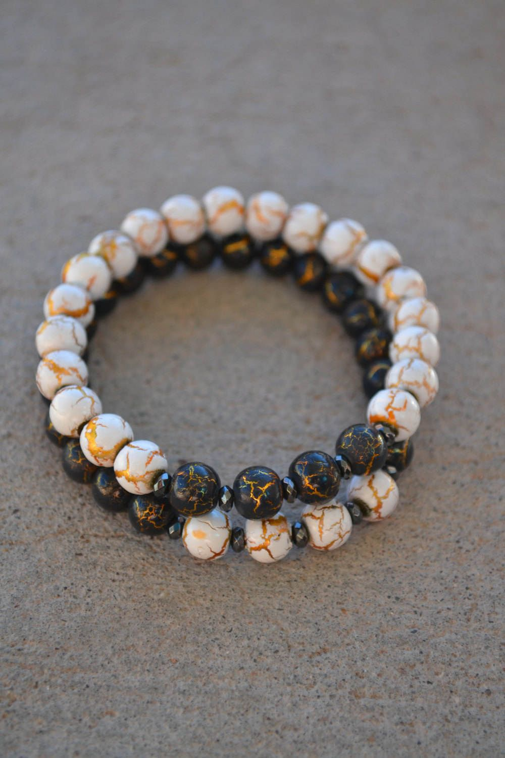 Amazonite and Black Onyx couples bracelets, You complete Me ...
