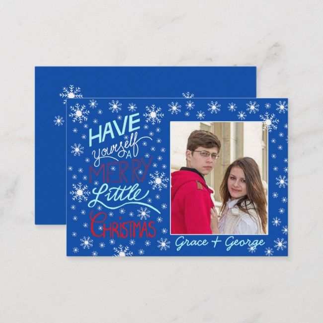 Have yourself a merry little Christmas Photo card | Zazzle ...