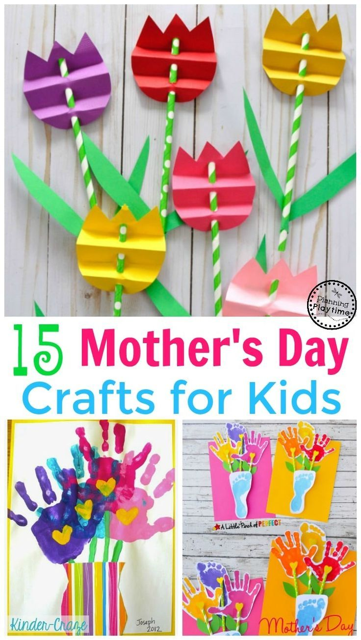 15 cute mother 39 s day crafts for kids craft activities and school. Black Bedroom Furniture Sets. Home Design Ideas