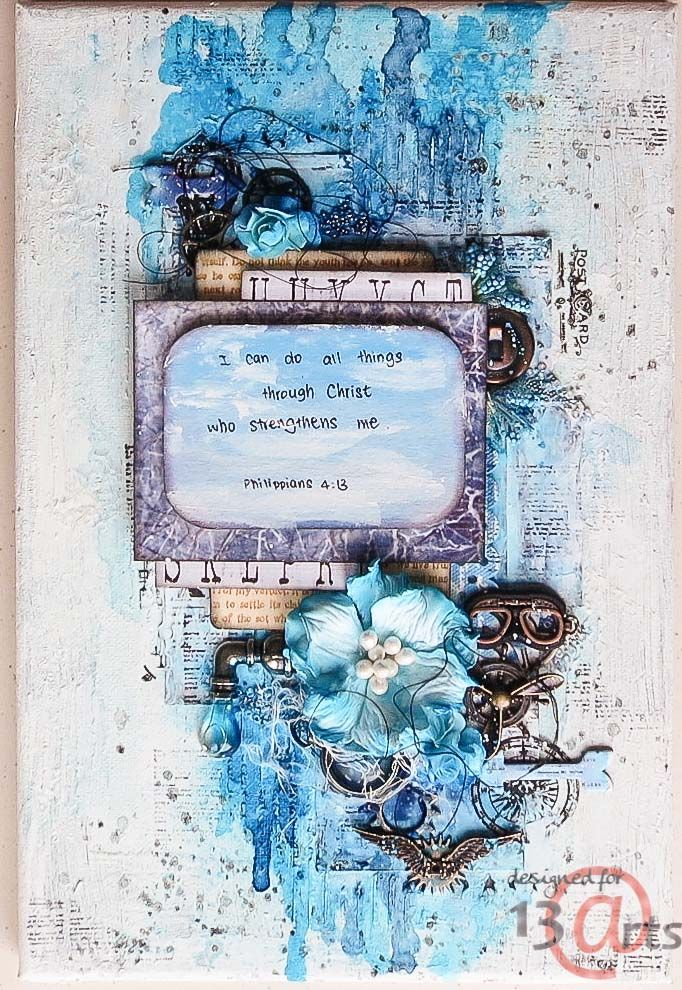 Monotone Mixed Media Canvas By Jelissa Mixed Media Altered