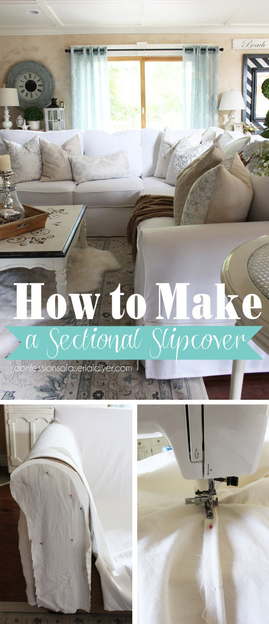 How To Make A Sectional Slipcover Sectional Slipcover