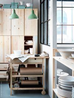 Ivar Kast In Keuken 头上的 Ikea Forhoja Decor Modern