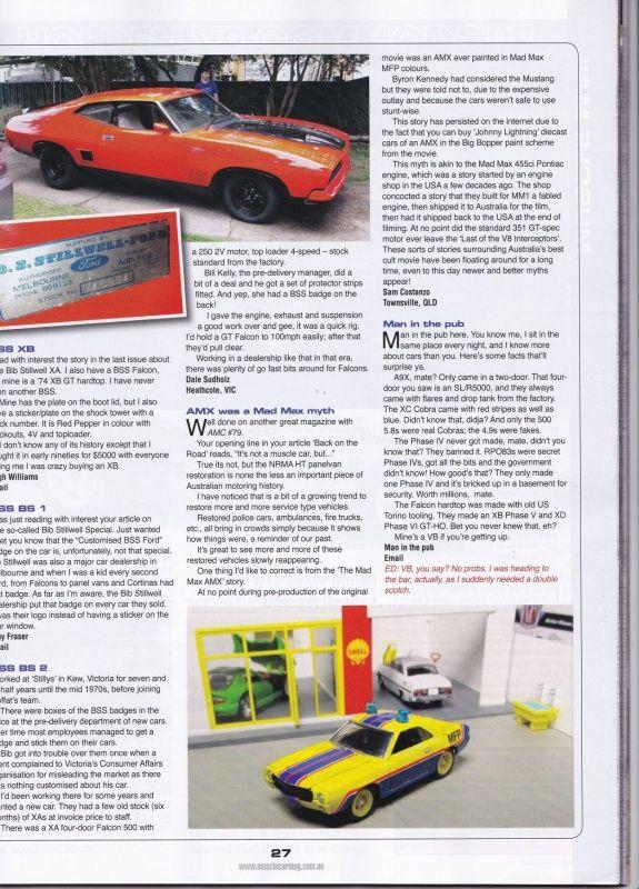 Australian Muscle Car Magazine Pic From Ebay Johnny Lightning Mad