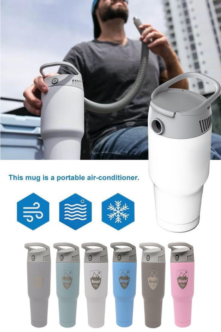 Airwirl Portable AirConditioner Coffee travel, Heat