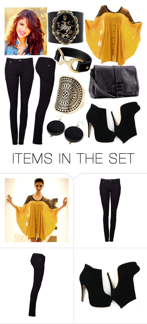 """""""Golden black"""" by sayuurii ❤ liked on Polyvore featuring art"""
