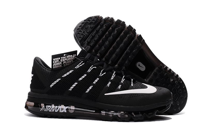best service a72ff e70cd Nike Air Max 2016 Men Black White KPU