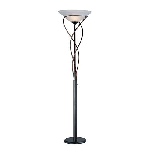 Majesty Dark Bronze One Light Torchiere Lamp