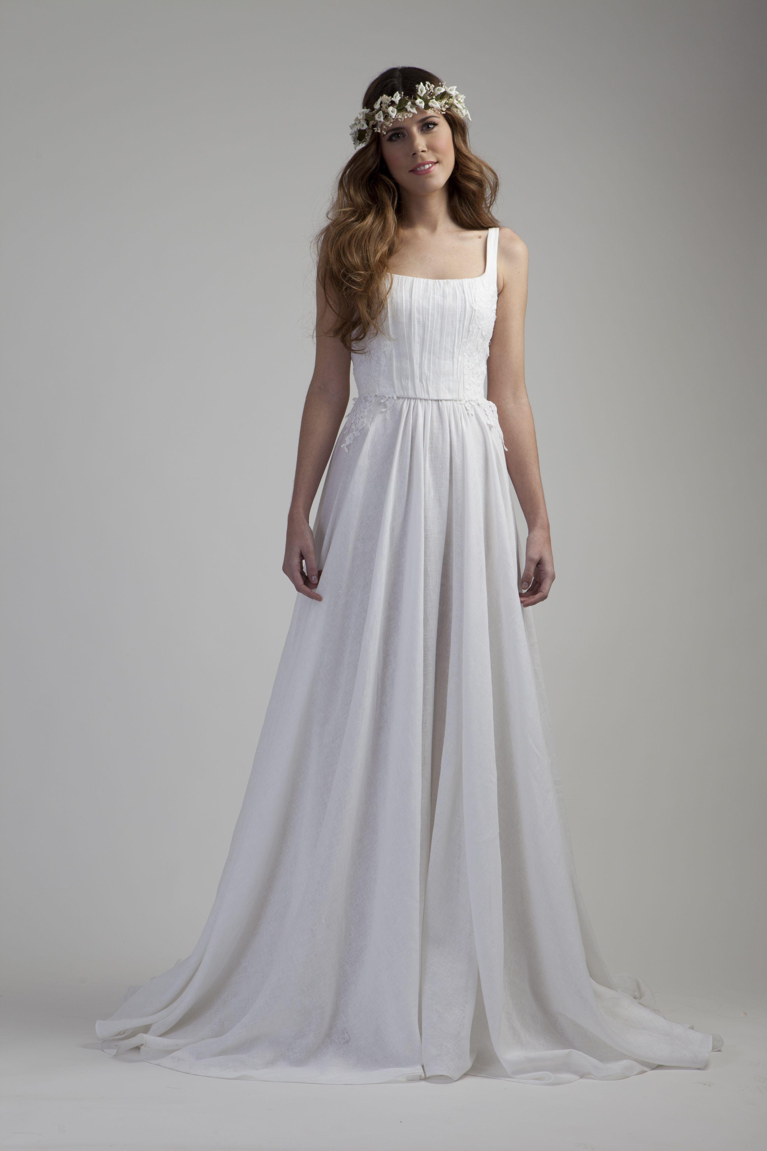 Vestido lino. | Vestidos de novia | Pinterest