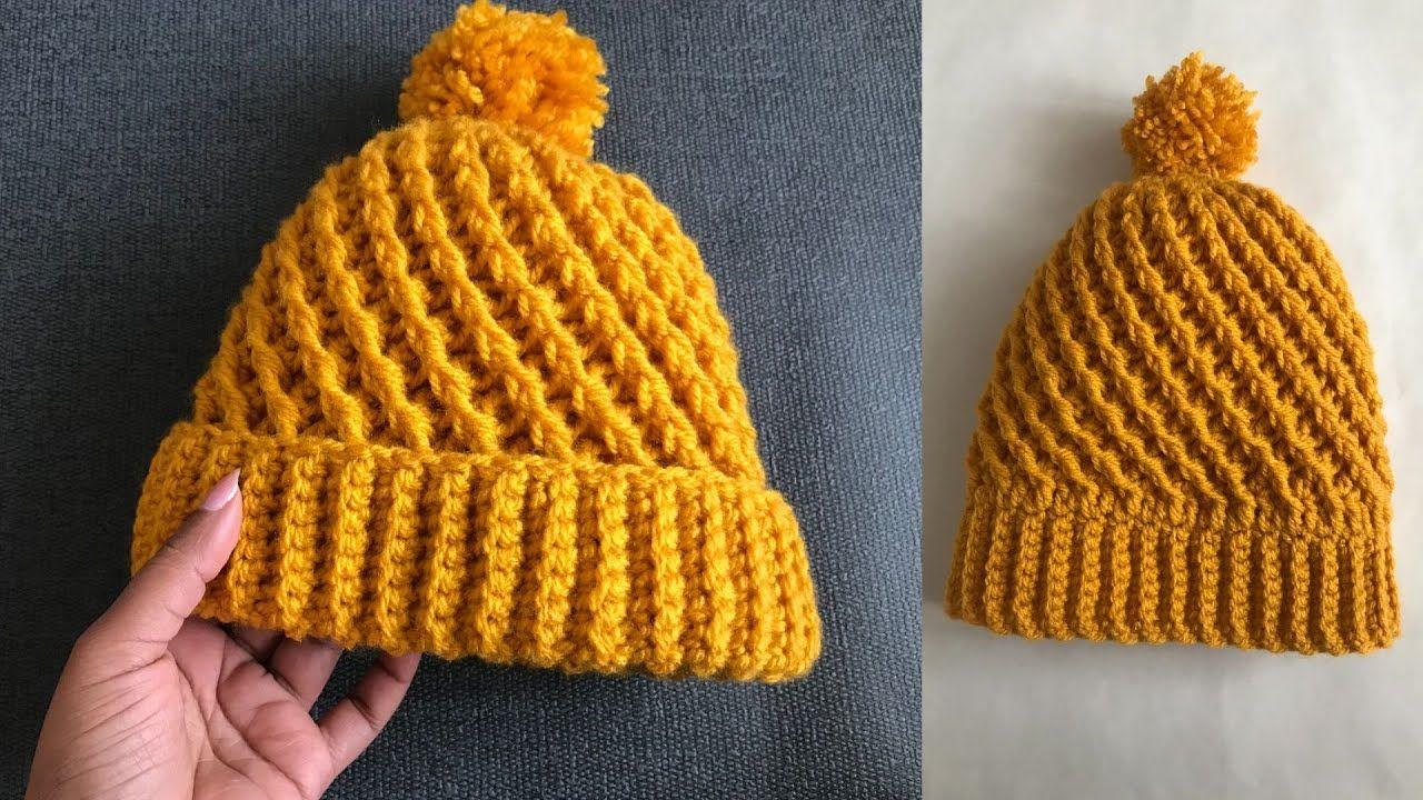 Easy Crochet Hat Two In One Crochet Hat Crochet Hats Easy Crochet Hat Crochet