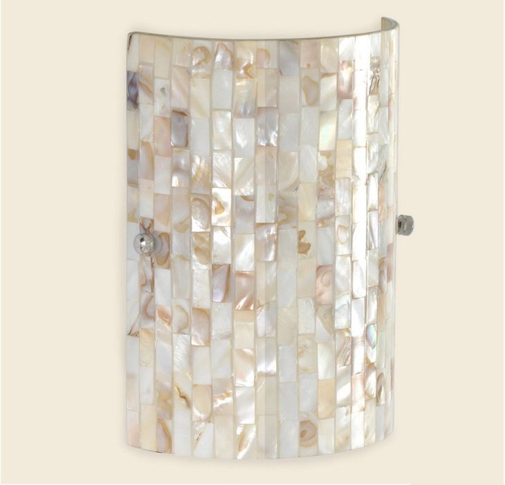 Capiz Shell Wall Sconces Swl 004 Shell Wall Light Rounded