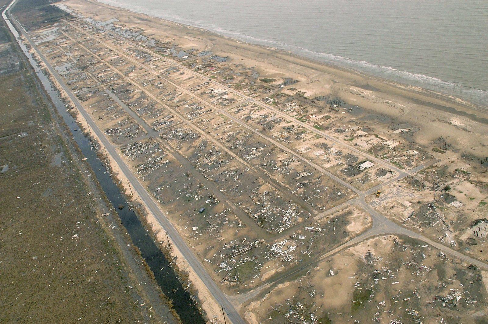Holly Beach, Louisiana following Hurricane Rita. Credit FEMA ...